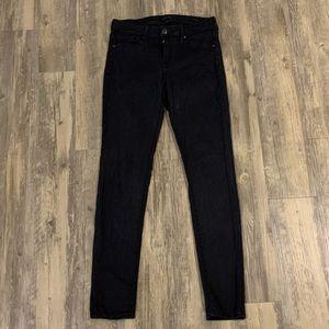 Genetic Denim distressed black skinny jeans